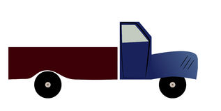 Abstract truck. Royalty Free Stock Image