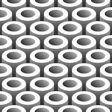 Abstract tubes 3D seamless pattern. Background Royalty Free Stock Photos