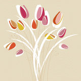 Abstract tulip design vector Royalty Free Stock Photo