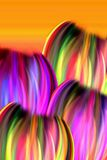 Abstract Tulips. Abstract illustration of colorful tulips on orange background Royalty Free Stock Images