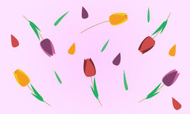 Abstract tulips background Stock Photo
