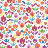 Abstract tulips seamless pattern background Royalty Free Stock Photo