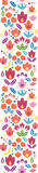 Abstract tulips vertical seamless pattern Stock Photography
