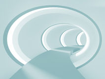 Abstract Tunnel. 3d Illustration of Blue Abstract Tunnel Background Stock Photography