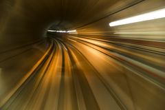 Abstract tunnel. Abstract high-tech tunnel blur Royalty Free Stock Photos
