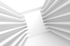 Abstract Tunnel Background. 3d Illustration of White Abstract Tunnel Background Royalty Free Stock Images