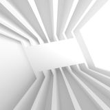 Abstract Tunnel Background. 3d Illustration of White Abstract Tunnel Background Royalty Free Stock Photography