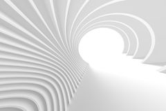 Abstract Tunnel Background. 3d Abstract Tunnel Background. White Circular Building Royalty Free Stock Photography