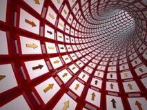 Abstract tunnel, 3D Stock Photos