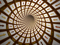 Abstract tunnel, 3D Royalty Free Stock Photography