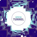 Abstract tunnel. 3d background. Circle shape. Design element. Abstract tunnel. 3d background. Web banner stock illustration