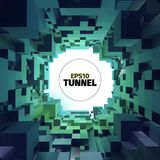 Abstract tunnel. 3d background. Circle shape. Design element. Abstract tunnel. 3d background. Web banner royalty free illustration