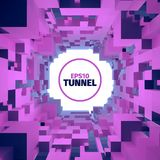 Abstract tunnel. 3d background. Circle shape. Design element. Abstract tunnel. 3d background. Web banner vector illustration