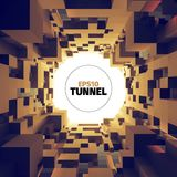 Abstract  tunnel. 3d background. Circle shape. Design element. Abstract  tunnel. 3d background. Web banner Stock Photography