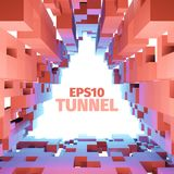 Abstract  tunnel. 3d background. Triangle border Royalty Free Stock Photography