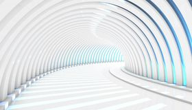 Abstract Tunnel 3d Background. White Abstract Tunnel 3d Background. 3d Render illustration Royalty Free Stock Image