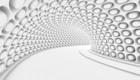 Abstract Tunnel 3d Background. White Abstract Tunnel 3d Background. 3d Render illustration Royalty Free Stock Photography