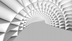 Abstract Tunnel 3d Background. White Abstract Tunnel 3d Background. 3d Render illustration Stock Photography