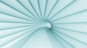 Abstract Tunnel. 3d Illustration of Blue Abstract Tunnel Background royalty free illustration