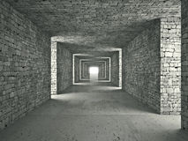 Abstract tunnel Stock Image