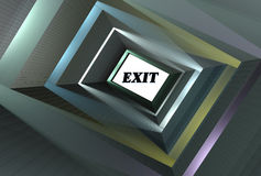 Abstract tunnel 3d Royalty Free Stock Photography
