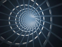 Abstract tunnel, 3D. View of an abstract tunnel, 3D rendering image Royalty Free Stock Image