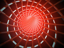 Abstract tunnel, 3D. View of an abstract tunnel, 3D rendering image Stock Photos