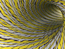 Abstract tunnel, 3D. View of an abstract tunnel, 3D rendering image Stock Photo