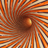 Abstract tunnel, 3D. View of an abstract tunnel, 3D rendering image Stock Image