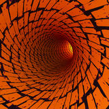 Abstract tunnel, 3D. View of an abstract tunnel, 3D rendering image Royalty Free Stock Photos