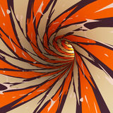 Abstract tunnel, 3D. View of an abstract tunnel, 3D rendering image Royalty Free Stock Images