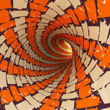 Abstract tunnel, 3D. View of an abstract tunnel, 3D rendering image Stock Images
