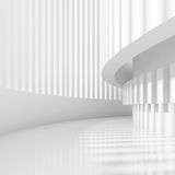 Abstract Tunnel Design. White Architecture Circular Background. Abstract Tunnel Design. 3d Modern Architecture Render. Futuristic Building Construction Stock Photography
