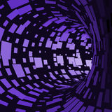 Abstract Tunnel. Futuristic Style. 3D Abstract Surface. Turning Tube Tunnel. Perspective Background. Data visualisation Stock Image