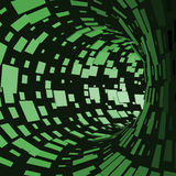 Abstract Tunnel. Futuristic Style. 3D Abstract Surface. Turning Tube Tunnel. Perspective Background. Data visualisation Stock Photo