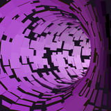 Abstract Tunnel. Futuristic Style. 3D Abstract Surface. Turning Tube Tunnel. Perspective Background. Data visualisation Stock Photography