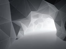 Abstract tunnel. From geometric shapes. 3D illustration Royalty Free Stock Images