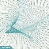 Abstract tunnel grid. 3d vector illustration. Can be used as digital dynamic wallpaper. Abstract tunnel grid. 3d vector illustration. Can be used as digital royalty free illustration