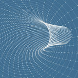 Abstract tunnel grid. 3d vector illustration Royalty Free Stock Photo