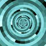 Abstract tunnel. Abstract illustration of a blue tunnel royalty free illustration