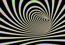 Abstract tunnel illustration. A 3D computer  artwork tunnel Royalty Free Stock Photo