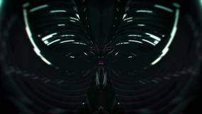 Abstract tunnel loop. Black background stock footage