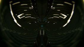 Abstract tunnel loop. Black background stock video footage