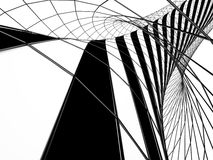 Abstract tunnel with mesh. Abstract black an white tunnel with mesh, 3D Stock Photo