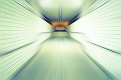 Abstract tunnel in the subway station in motion Royalty Free Stock Image