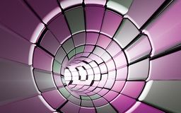 Abstract tunnel technology background stock photo