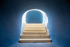 Abstract in the tunnel trajectory. Abstract in the blue tunnel trajectory Stock Images