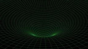 Abstract tunnel. Vector wormhole. 3D corridor mesh stock illustration