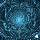 Abstract tunnelnet 3D Illustratie Royalty-vrije Stock Foto