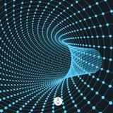 Abstract tunnelnet 3d vectorillustratie Stock Fotografie
